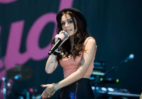 CHELMSFORD, ENGLAND - AUGUST 19: Cher Lloyd performs on the Arena Stage on day 2 of the V Festival at Hylands Park on August 19, 2012 in Chelmsford, England. (Photo by Samir Hussein/Getty Images)
